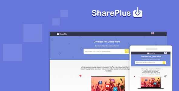 Shareplus v2.1 - video downloader for YouTube, Facebook, Instagram