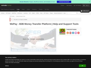 WePay - B2B Money Transfer Platform - Help and Support Tools