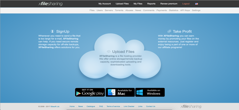 XFilesharing Pro v3.0.1 - file sharing script