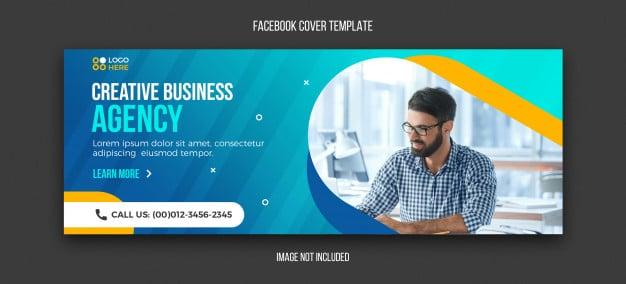 Agency modern facebook cover template Premium Psd