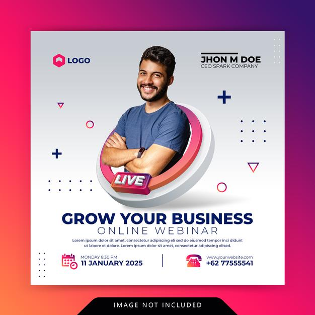 Creative concept digital marketing business promotion for social media template Premium Psd