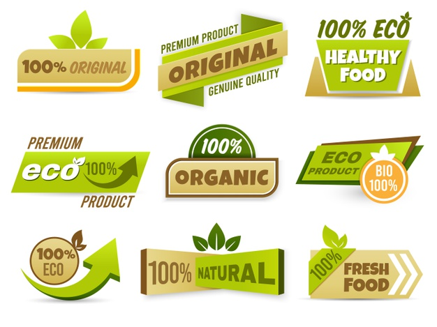 Eco label banner Free Vector