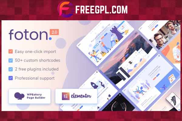 Foton v2.0 NULLED - Landing Page Template for WordPress Software and Applications