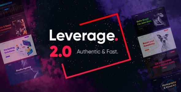 Leverage v2.0.4 - Creative Agency & Portfolio WordPress Theme