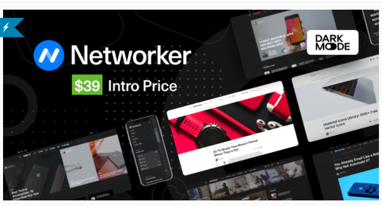 Networker v1.0.3 NULLED - Tech News WordPress Theme