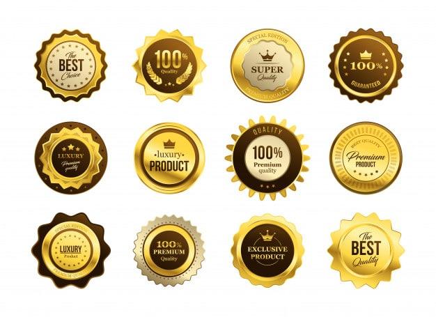 Premium quality medals set Free Vector