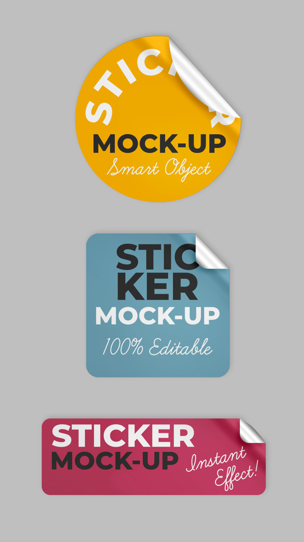 Stickers mock up Free Psd