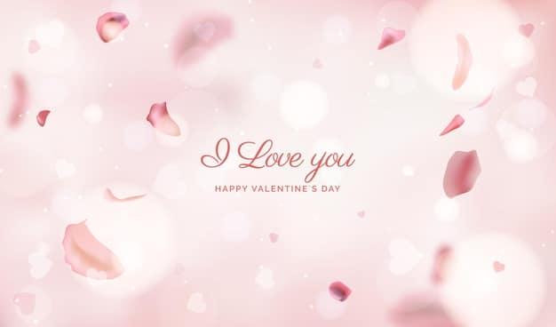 Blurred valentines day background Vector