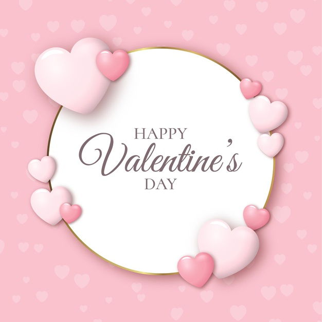 Realistic valentines day background Vector