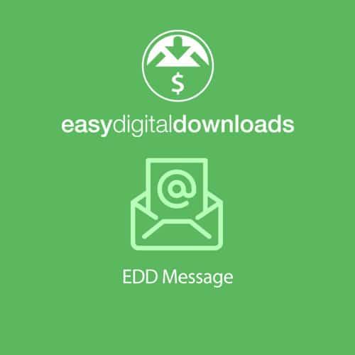 Easy Digital Downloads Message