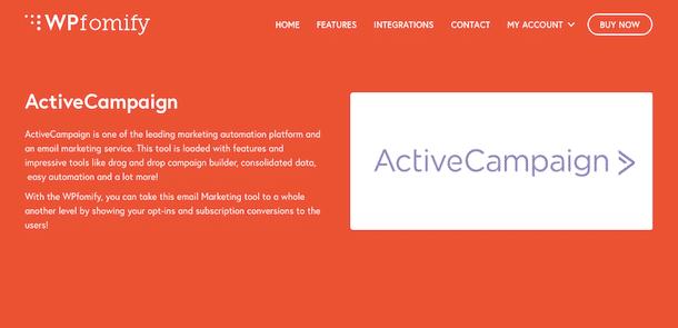 WPfomify ActiveCampaign Addon