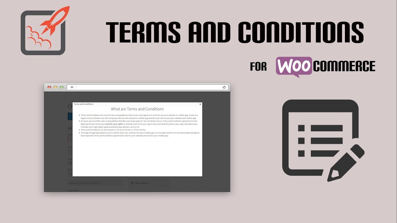 WooCommerce Terms and Conditions Popup