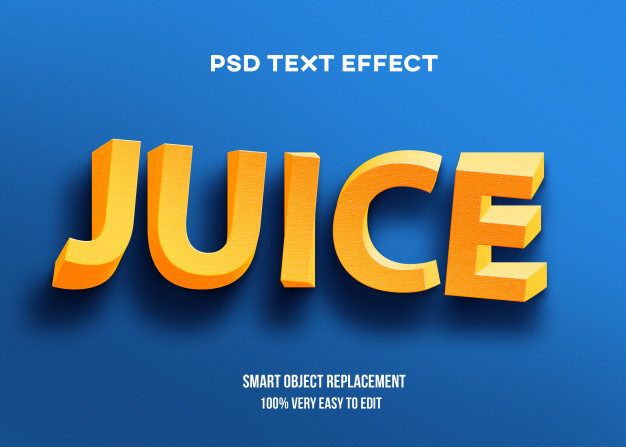 3d yellow twist text effect template Premium Psd