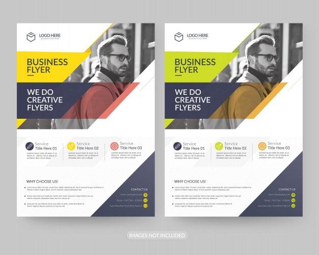 A4 business flyer template Premium Psd