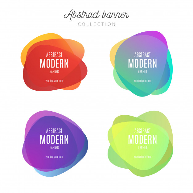 Abstract banner collection Free Vector