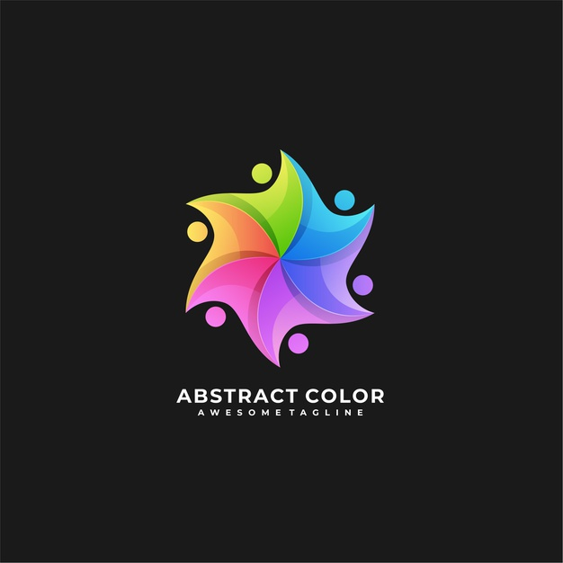 Abstract colorful logo. Premium Vector