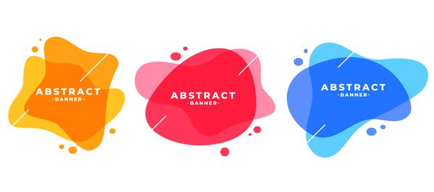Abstract colors frame modern banners set Free Vector