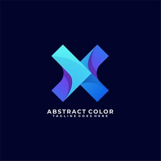 Abstract letter color logo design Premium Vector