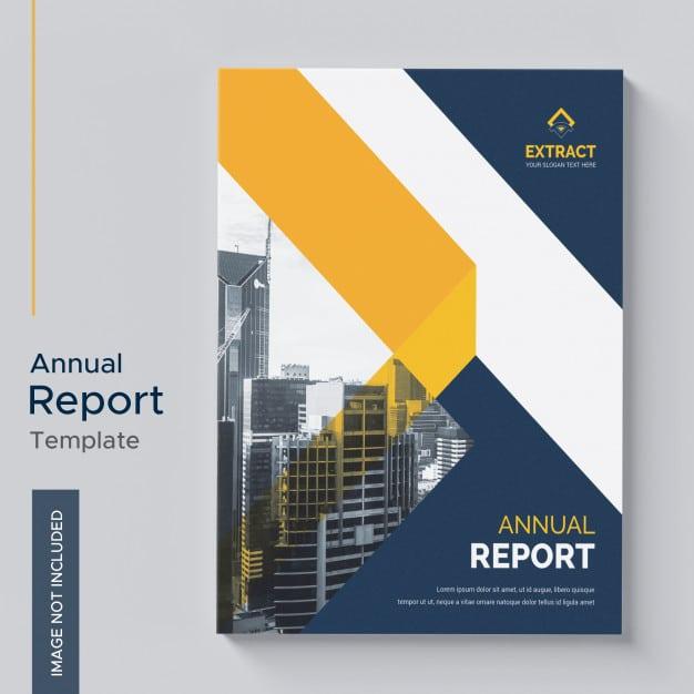 Annual report template Premium Psd