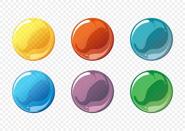 Cartoon soap bubble set Free Vector