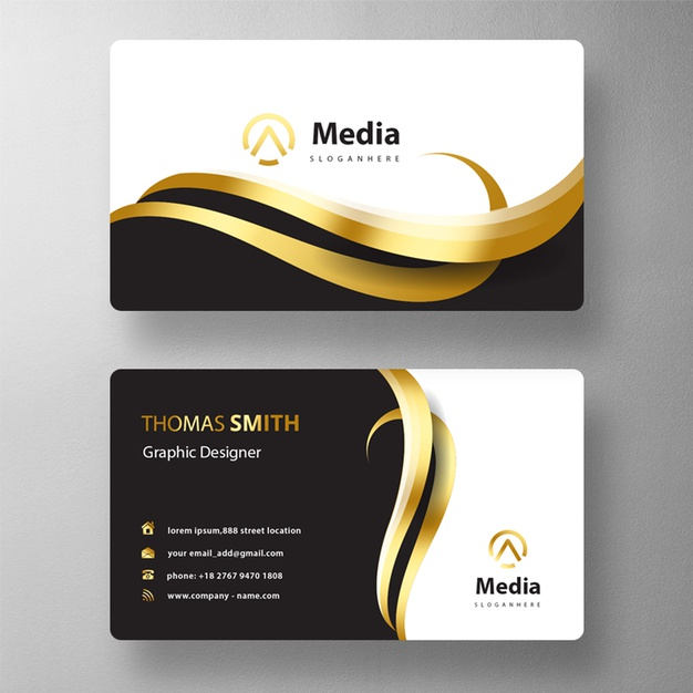 Colorful business card mock up Free Psd