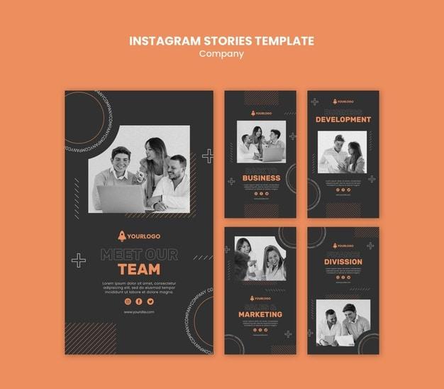 Company instagram stories template Premium Psd