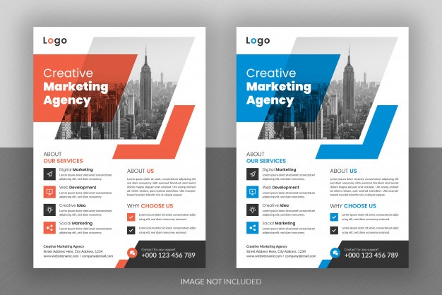 Corporate business digital marketing agency flyer design and brochure cover template Premium Psd