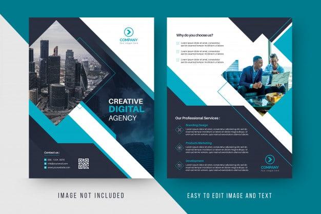 Digital agency business flyer template Premium Psd