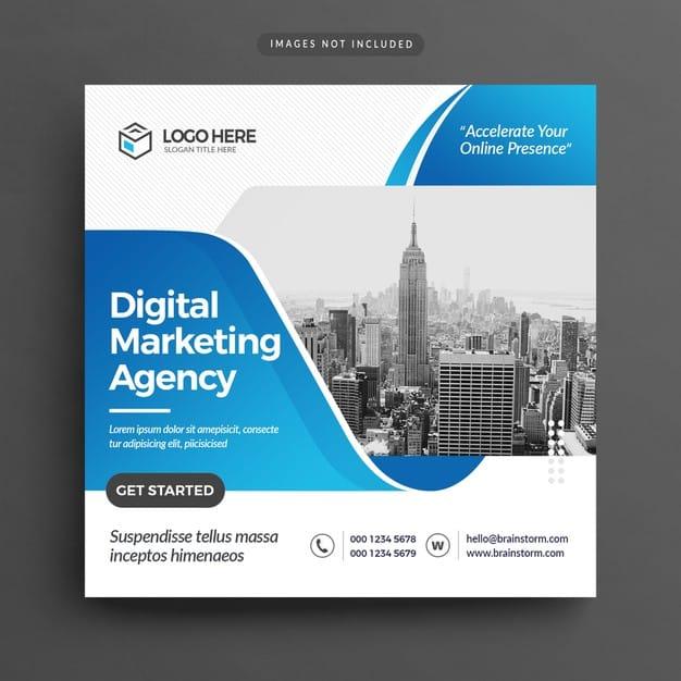 Digital marketing agency flyer Premium Psd
