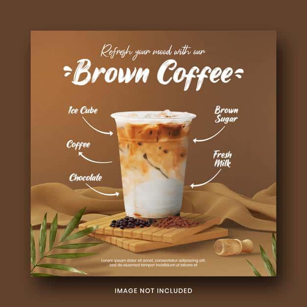 Drink menu social media post banner template for promotion Premium Psd