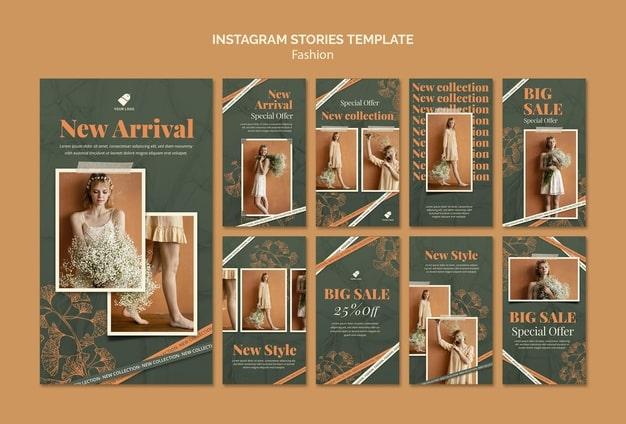 Fashion model social media stories Premium Psd