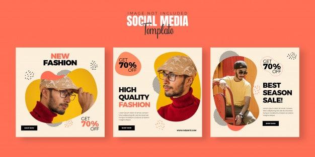 Fashion social media post banner template Premium Psd