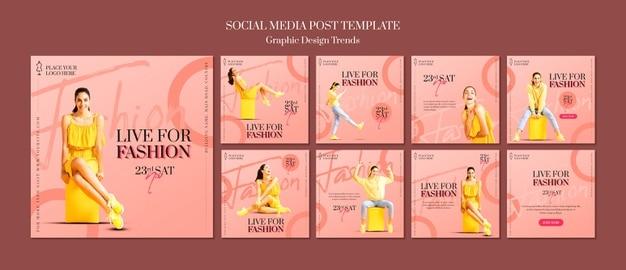 Fashion store template Premium Psd