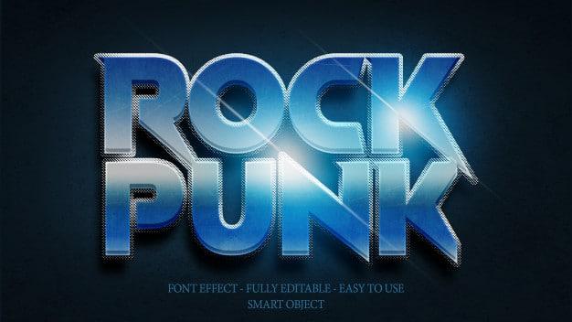 Font effect 3d rock n roll Premium Psd