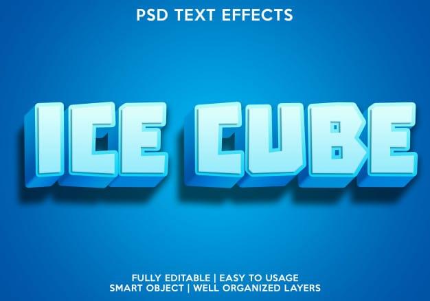 Glass text effect Premium Psd