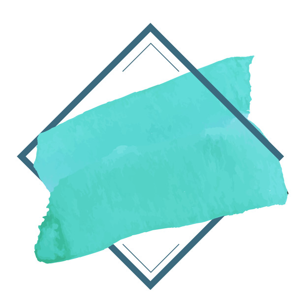 Green watercolor banner design vector