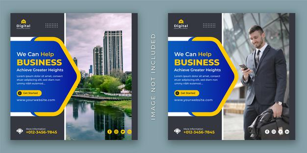 Improve your business and corporate agency flyer Premium Vector