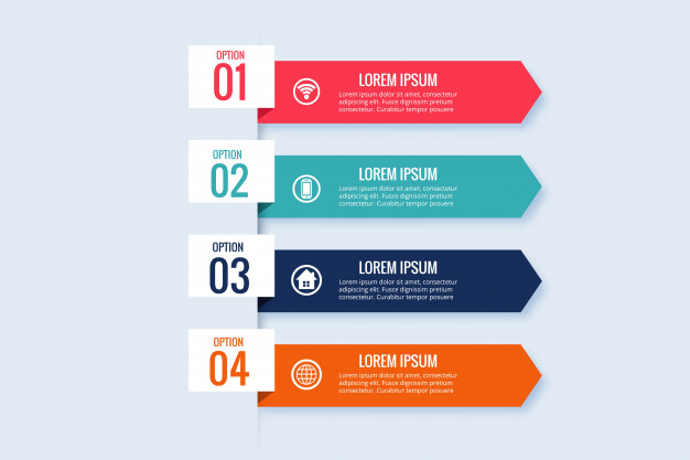 Infographic business banner template design Free Vector