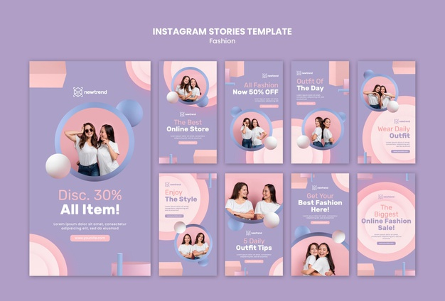 Instagram stories collection for fashion retail store Premium Psd