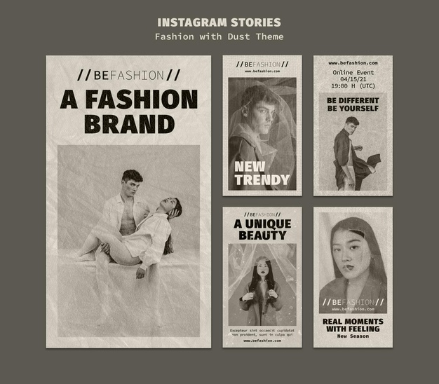 Instagram stories collection for fashion store Premium Psd