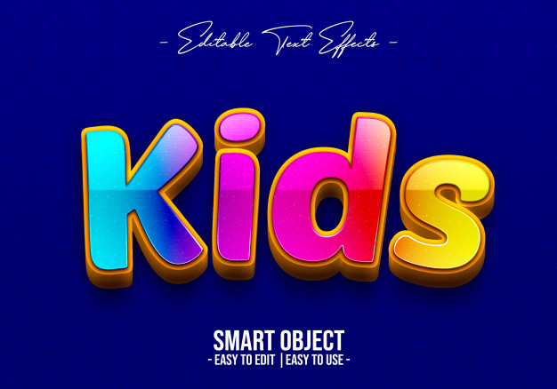 Kids-text-style-effect Premium Psd