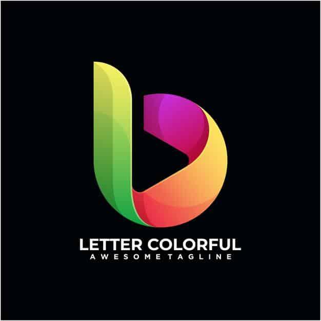 Letter colorful logo design template modern Premium Vector