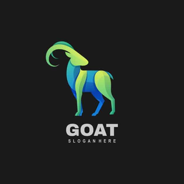 Logo illustration goat gradient colorful style. Premium Vector