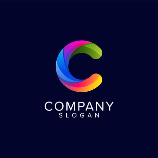 Logo template letter c Premium Vector