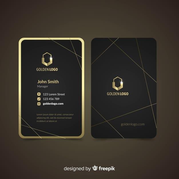 Luxurious business card Premium Vector