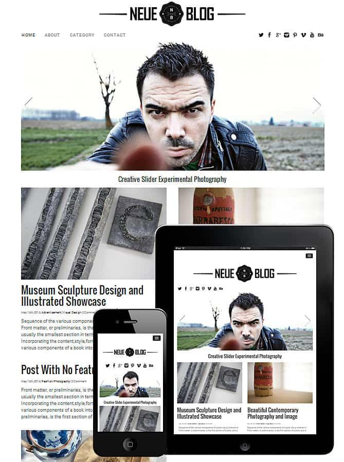 Neue Blog WordPress Theme
