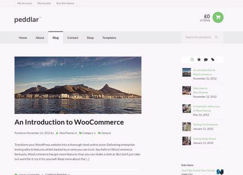 Peddlar Themes for WooCommerce