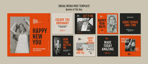 Quote of the day social media posts Premium Psd