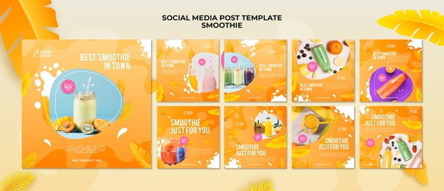 Smoothie social media post Premium Psd