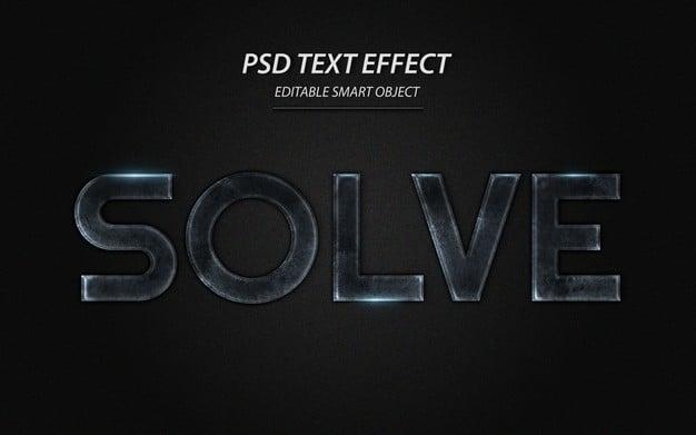 Solve text effect design template Premium Psd